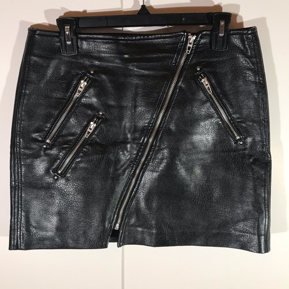 4ffac1ea9a Blank NYC Skirts | Nwot Black Vegan Leather Moto Skirt | Poshmark